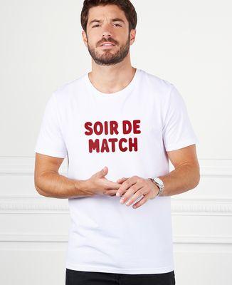 T-Shirt homme Soir de match (effet velours)