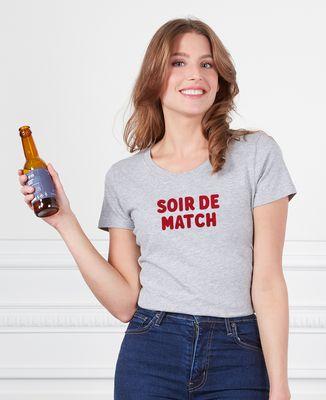 T-Shirt femme Soir de match (effet velours)