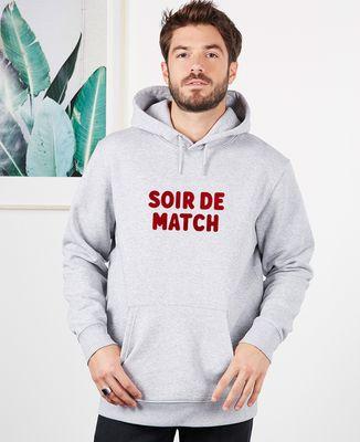 Hoodie homme Soir de match (effet velours)