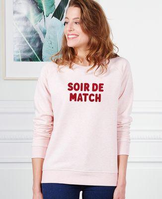 Sweatshirt femme Soir de match (effet velours)