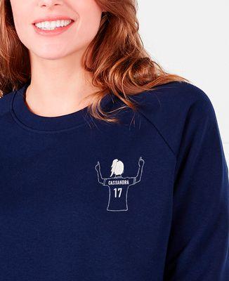 Sweatshirt femme Footballeur brodé personnalisé