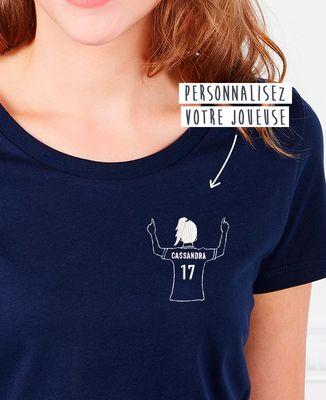 T-Shirt femme Footballeur brodé personnalisé