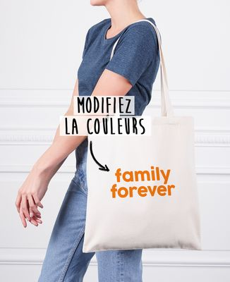 Tote bag Family forever personnalisé