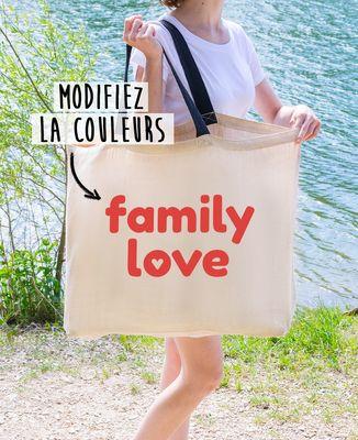 Sac XXL Family love personnalisé