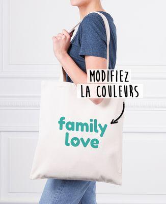 Tote bag Family love personnalisé