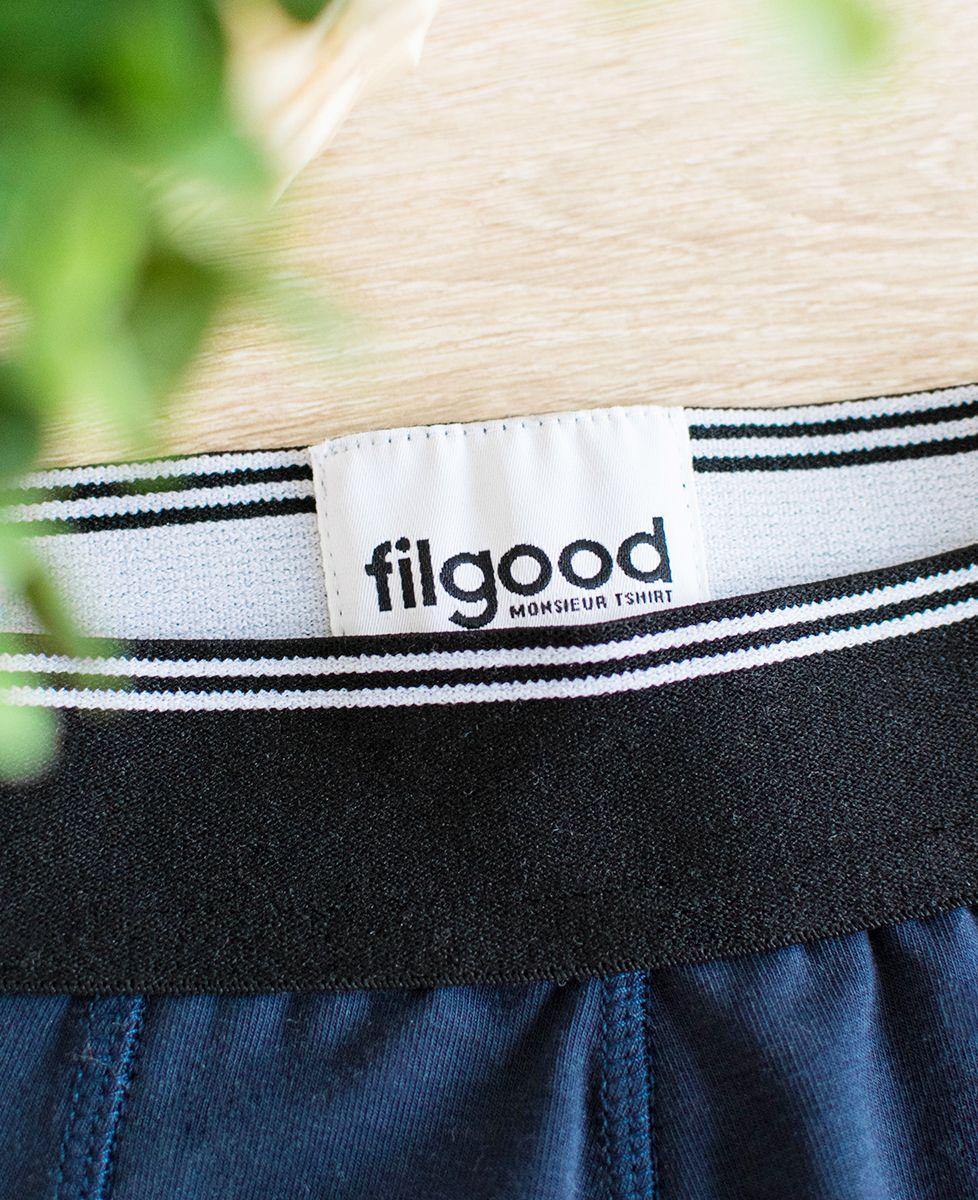 Boxer recyclé Filgood Filgood p'tit jaune (brodé)