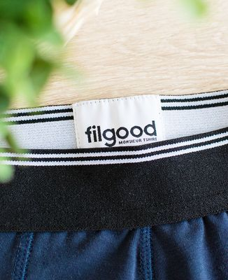 Boxer recyclé Filgood Filgood L'homme idéal cocarde (brodé)