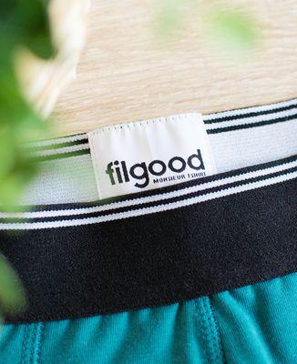 Boxer recyclé Filgood Filgood picto brodé personnalisé