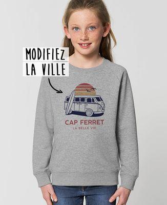 Sweatshirt enfant Van personnalisé textile clair