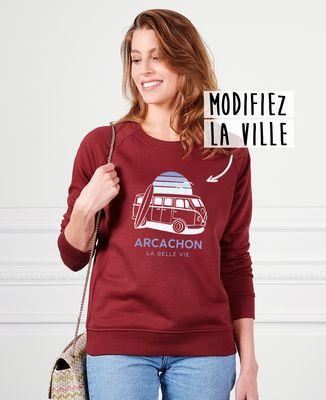 Sweatshirt femme Van personnalisé textile foncé