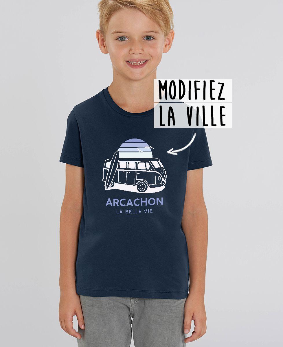 T-Shirt enfant Van personnalisé textile foncé