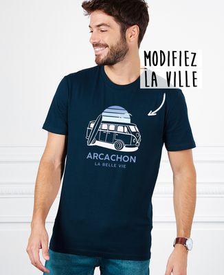 T-Shirt homme Van personnalisé textile foncé