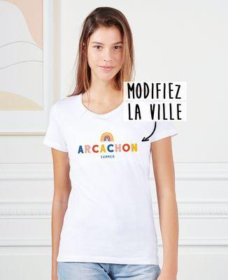 T-Shirt femme Ville arc-en-ciel personnalisé