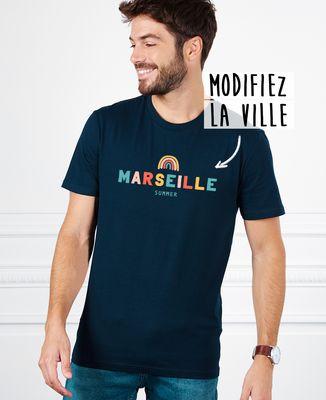 T-Shirt homme Ville arc-en-ciel personnalisé