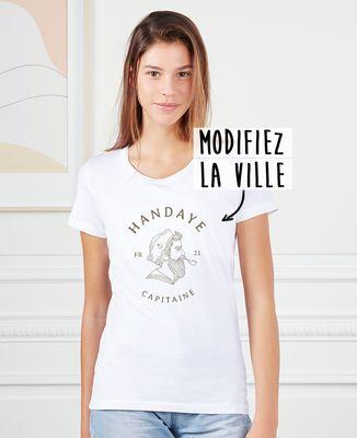 T-Shirt femme Marin illustré personnalisé