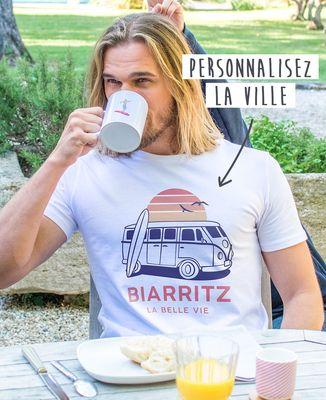 T-Shirt homme Van personnalisé textile clair