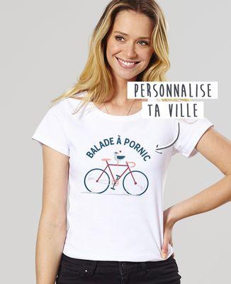 T-Shirt femme Balade à vélo personnalisé