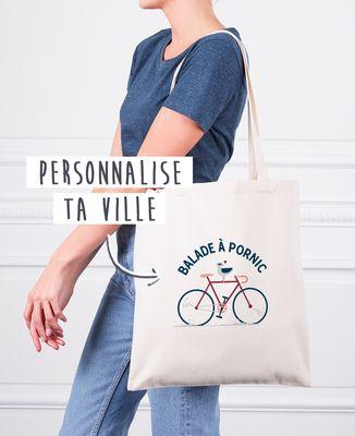 Tote bag Balade à vélo personnalisé