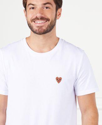 T-Shirt homme Coeur smiley (brodé)