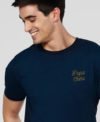 T-Shirt homme Papa chéri brodé