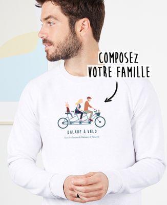 Sweatshirt homme Famille à vélo personnalisé