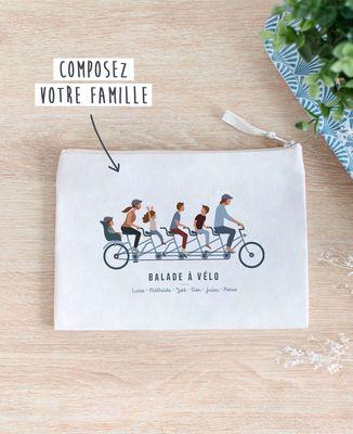 Pochette Famille à vélo personnalisé