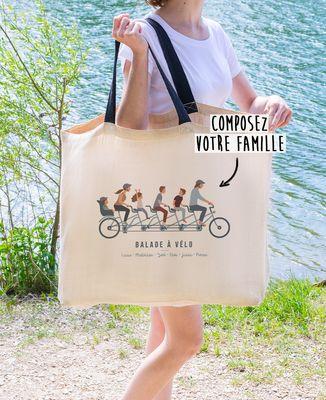 Sac XXL Famille à vélo personnalisé