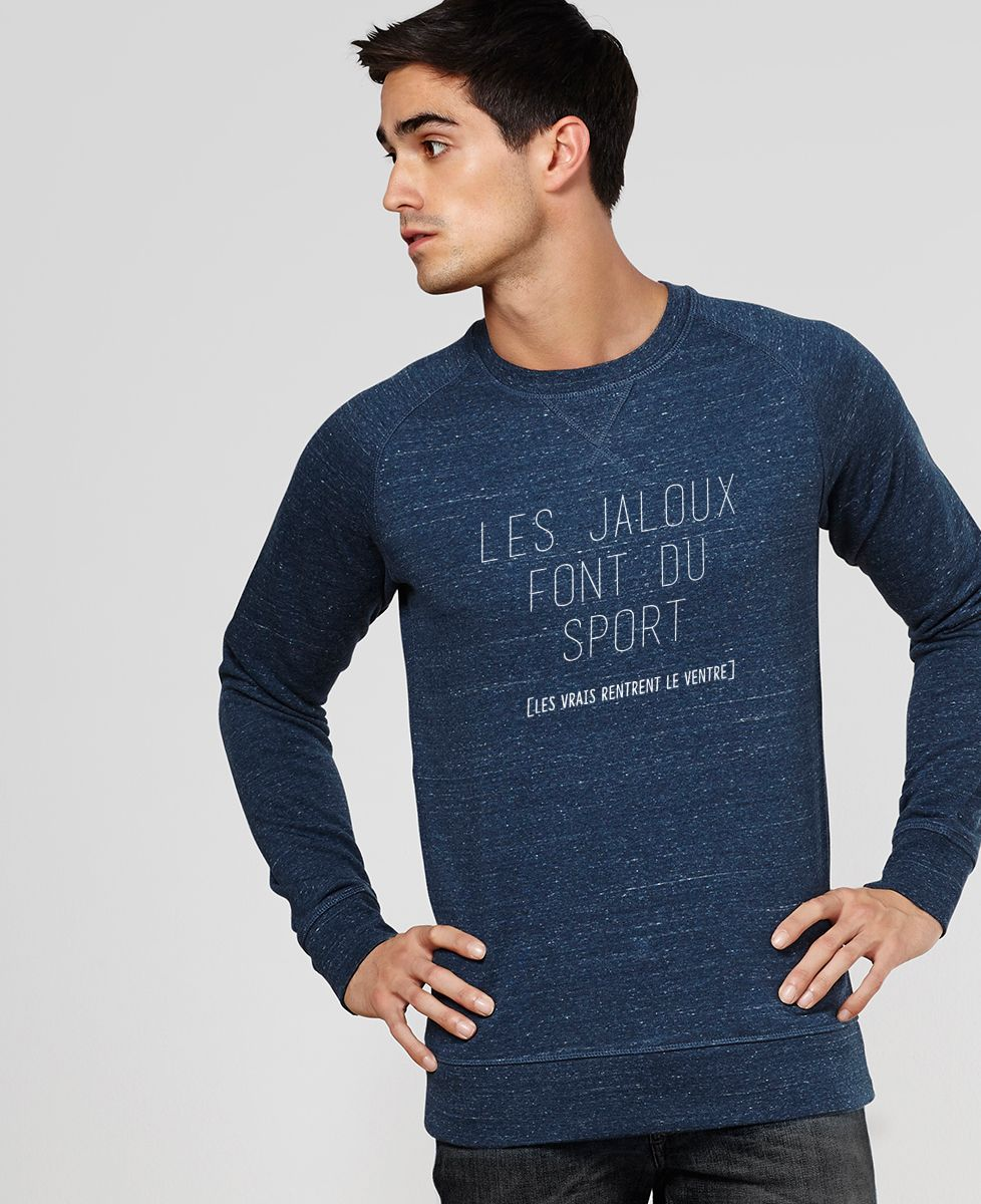 Sweatshirt homme Les jaloux font du sport