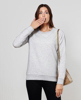 Sweatshirt femme Message imprimé personnalisé - Manuscrit
