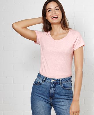 T-Shirt femme Message imprimé personnalisé - Manuscrit