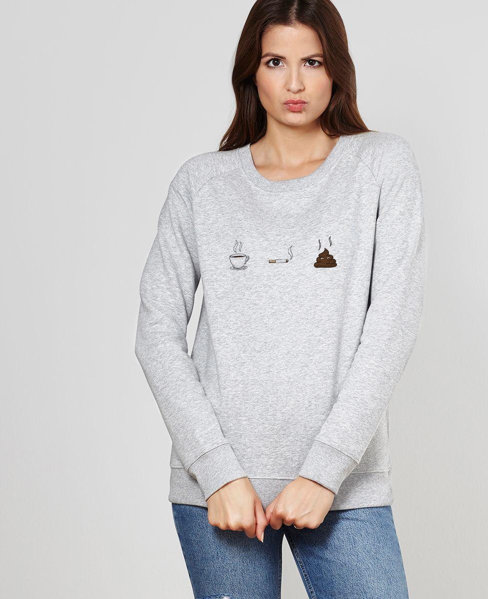 Sweatshirt femme Café clope caca