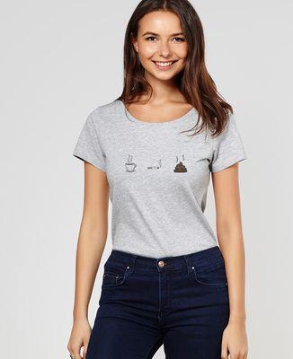 T-Shirt femme Café clope caca
