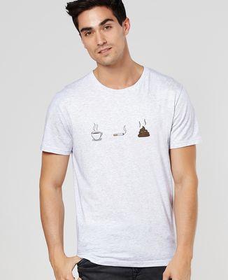 T-Shirt homme Café clope caca