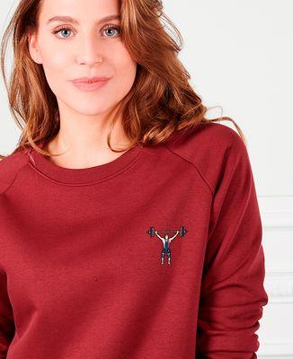 Sweatshirt femme Haltérophile (brodé)