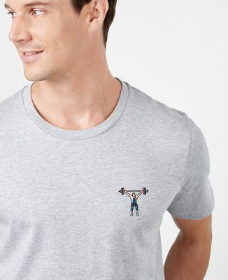 T-Shirt homme Haltérophile (brodé)