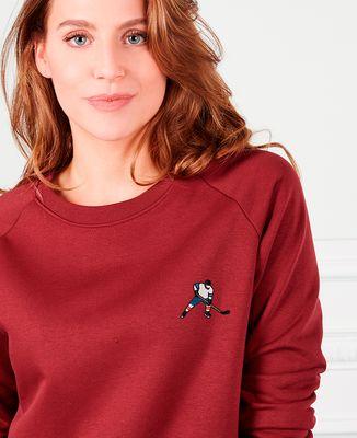 Sweatshirt femme Hockey sur glace (brodé)