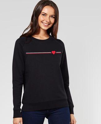 Sweatshirt femme Supporter coeur