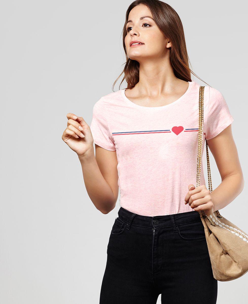 T-Shirt femme Supporter coeur