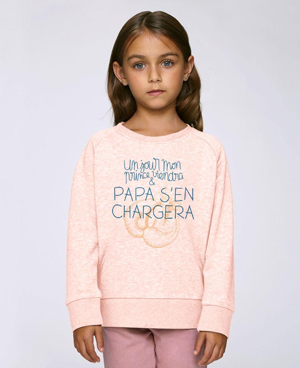 Sweatshirt enfant Un jour mon prince viendra