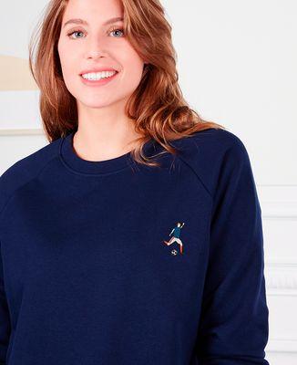 Sweatshirt femme Footballeur (brodé)
