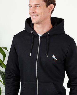 Hoodie zippé homme Rugbyman (brodé)