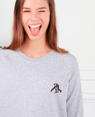 Sweatshirt femme Curling (brodé)