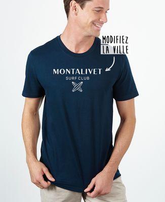 T-Shirt homme Surf club personnalisé base foncée