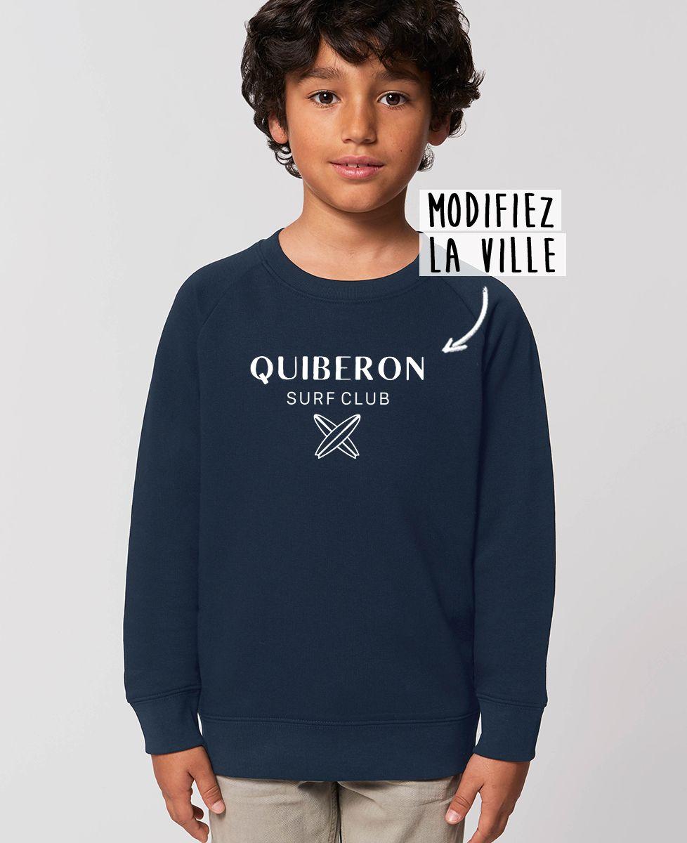 Sweatshirt enfant Surf club personnalisé base foncée