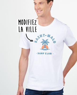 T-Shirt homme Surf club palmier personnalisé