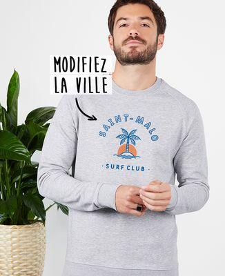 Sweatshirt homme Surf club palmier personnalisé