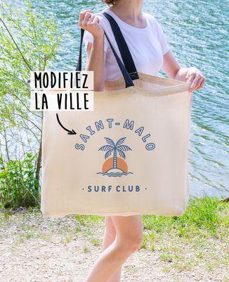 Sac XXL Surf club palmier personnalisé