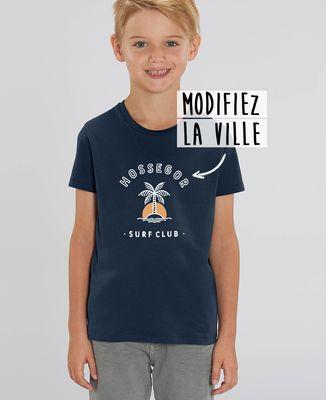 T-Shirt enfant Surf club palmier personnalisé base foncée