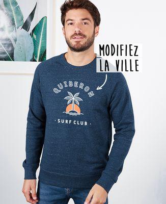 Sweatshirt homme Surf club palmier personnalisé base foncée