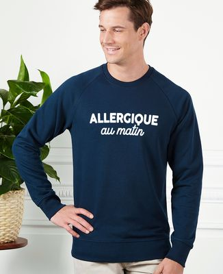 Sweatshirt homme Allergique au matin